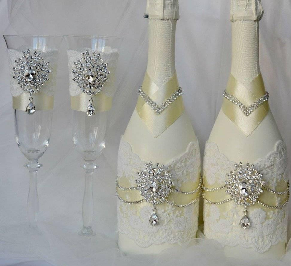 Украшение бутылки на свадьбу своими руками: пошаговая инструкция
