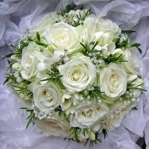 Свадебный букет с хлопком (фото)