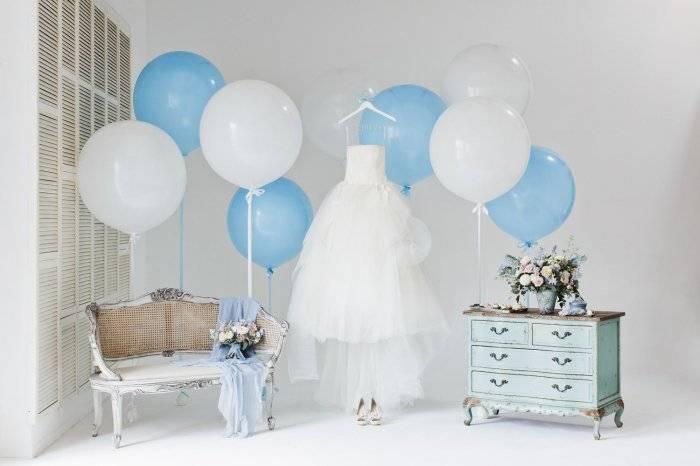 Оформление комнаты невесты на фотосессию.
