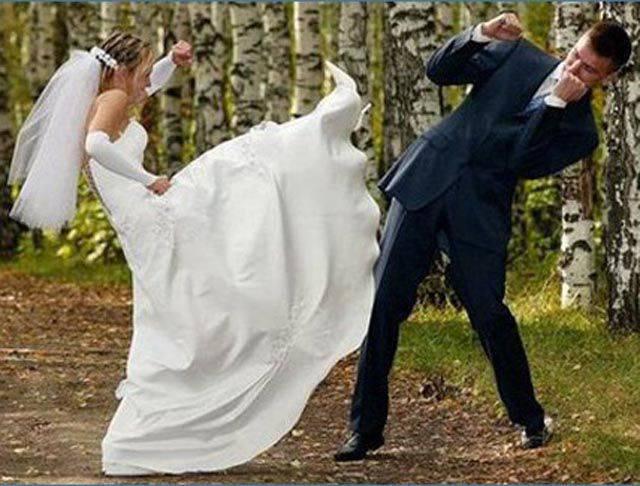 Свадебные курьезы: фото и видео