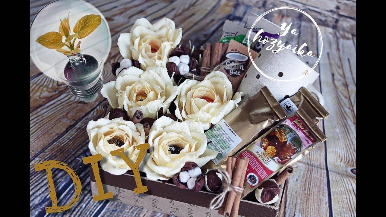 Орхидея из конфет. подробный мастер-класс