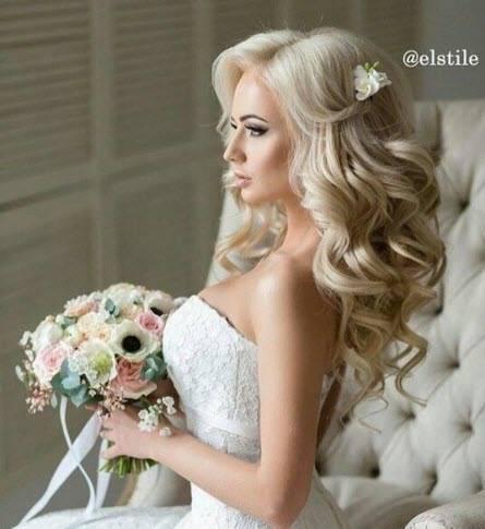 Свадебные прически звезд