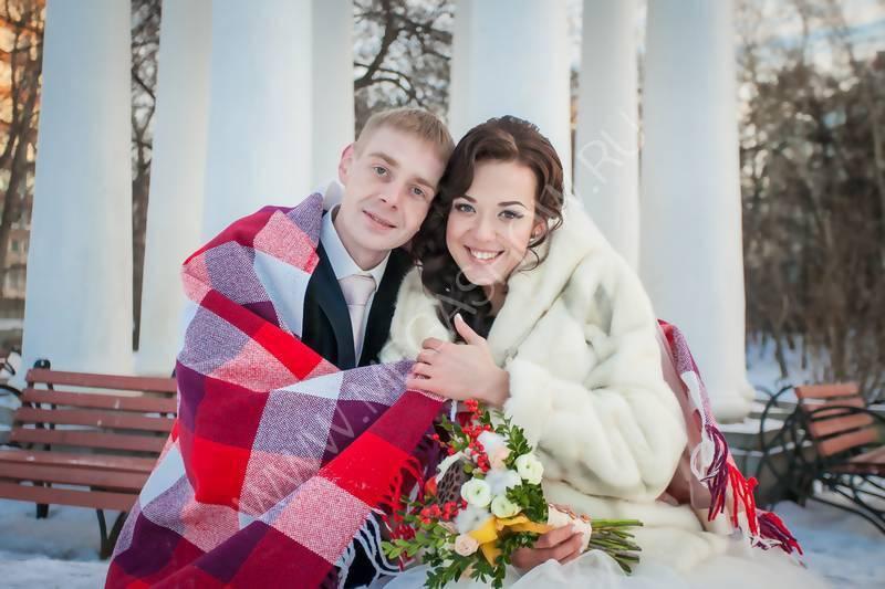 Зимняя свадебная фотосессия: идеи и фото