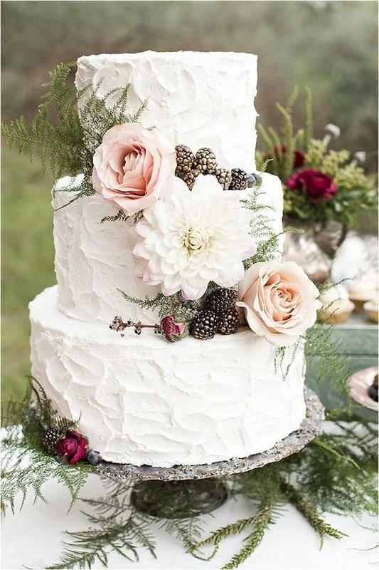 15 идей красивых свадебных тортов