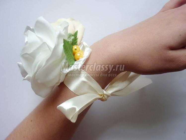 Бутоньерки из атласной ленты своими руками | дом невест