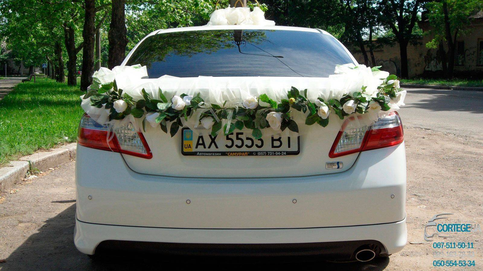 Как украсить машину на свадьбу: рекомендации по декорированию