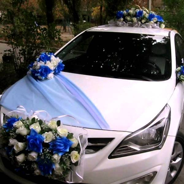 Украшение свадебного кортежа, идеи с фото и видео