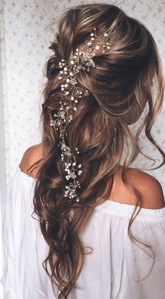 Свадебные прически на средние волосы: 50 новых вариантов