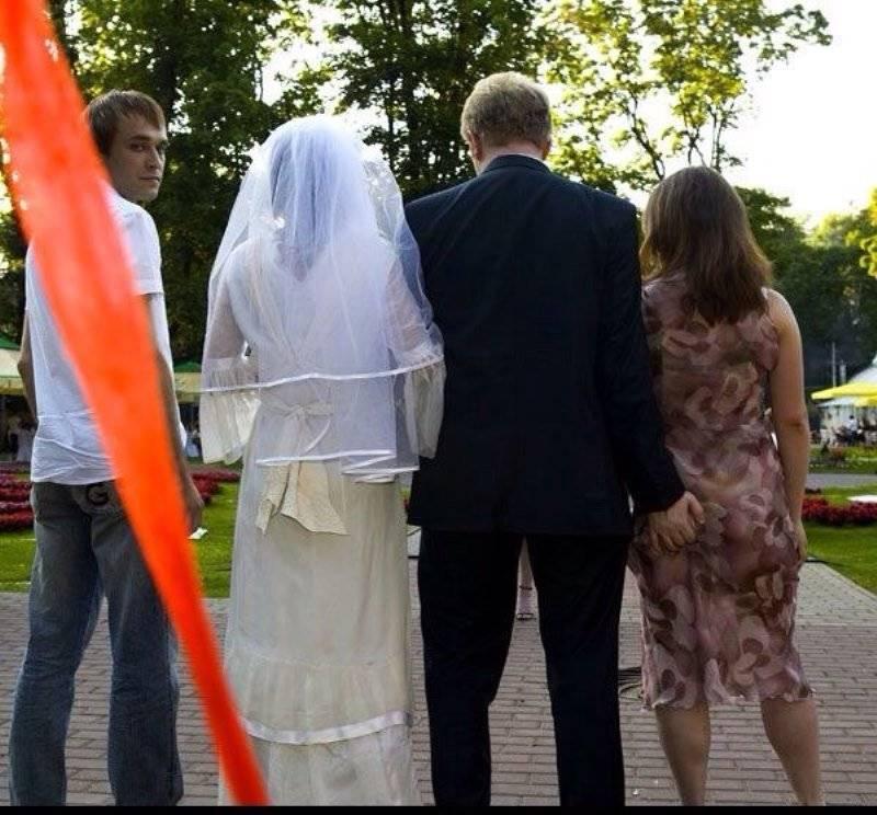 Прикольные свадебные фотосессии – фото