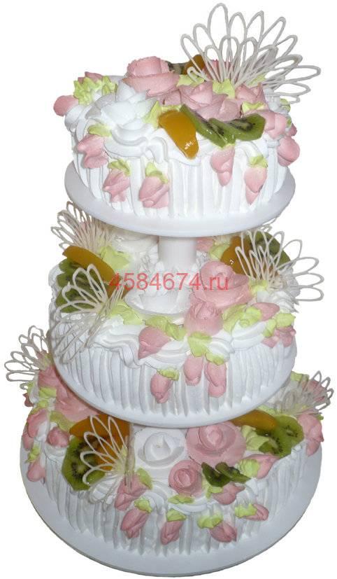 Свадебный торт без мастики: фото самых красивых тортов на свадьбу