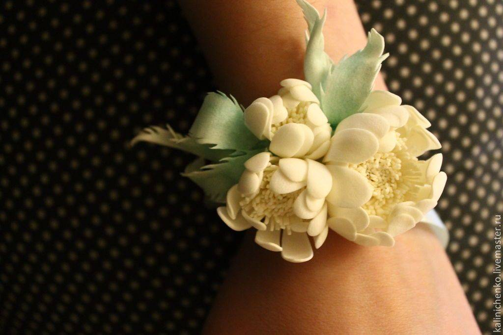 Бутоньерки на свадьбу  из лент для гостей, свидетелей, невесты, мастер класс