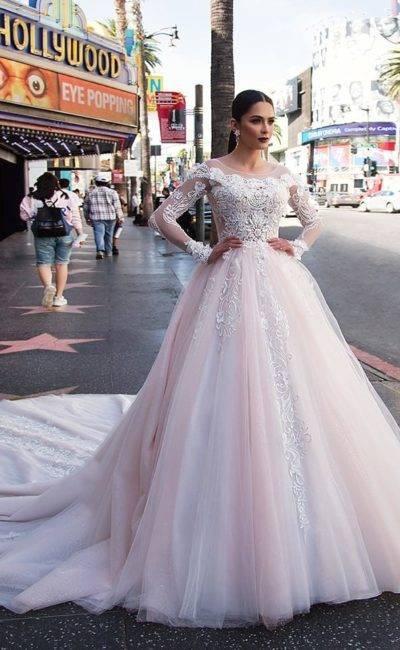 Голубое свадебное платье — 83 фото от самых темных до самых нежных оттенков