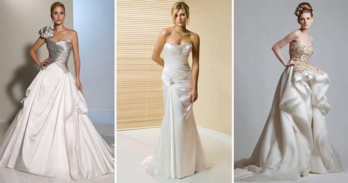Ткань для вечернего платья: атлас, шелк, кружево, парча, тафта и бархат, шифон и органза