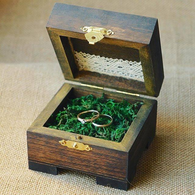 Красивые модели шкатулок для колец на свадьбу, советы по изготовлению своими руками