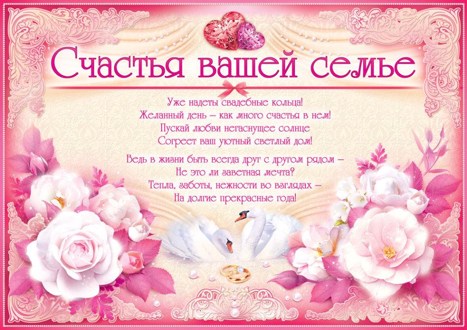 Поздравления на свадьбу своими словами короткие