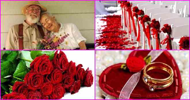 Платиновая свадьба (красная) – 100 лет совместной жизни