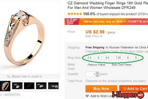 Алиэкспресс кольца: в каких магазинах покупать?