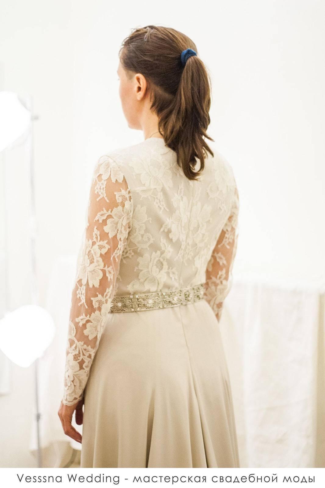 Закрытые свадебные платья — актуальные фасоны и лучшие ткани + 66 фото