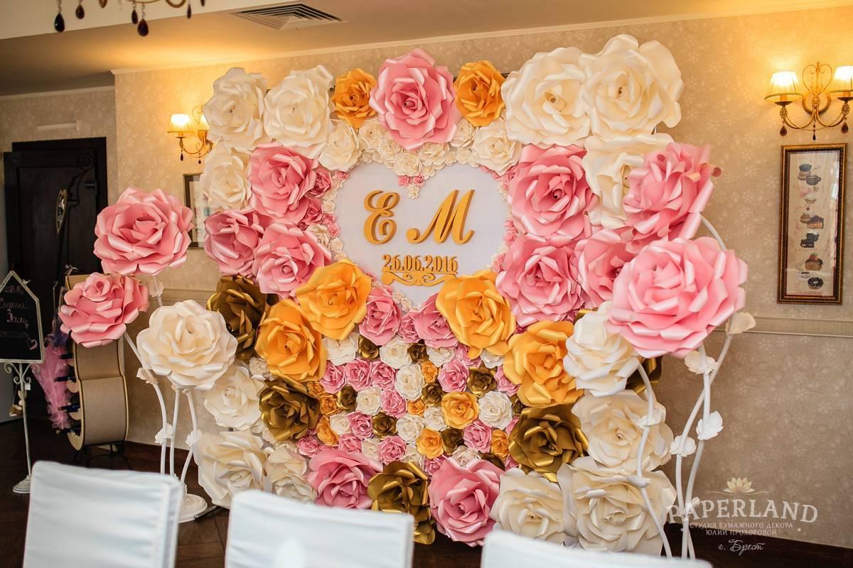 Свадебные цветы из бумаги