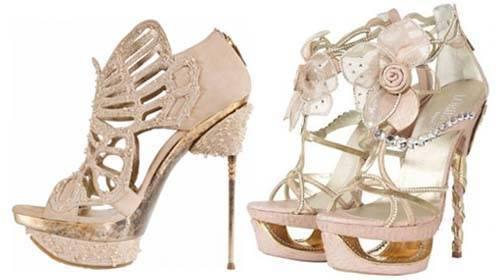 Красивая свадебная обувь для невесты – балеки, босоножки, туфли, сапоги, на шпильке, танкетке, платформе, низком каблуке и без