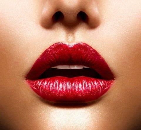 Свадебный макияж глаз: невесты с красными губами