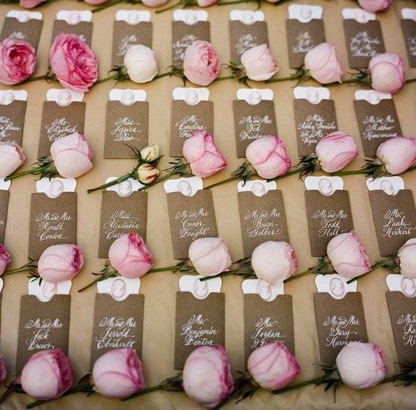 Рассадочные карточки на свадьбу: как сделать свадебные карточки для рассадки гостей и подписать их своими руками?