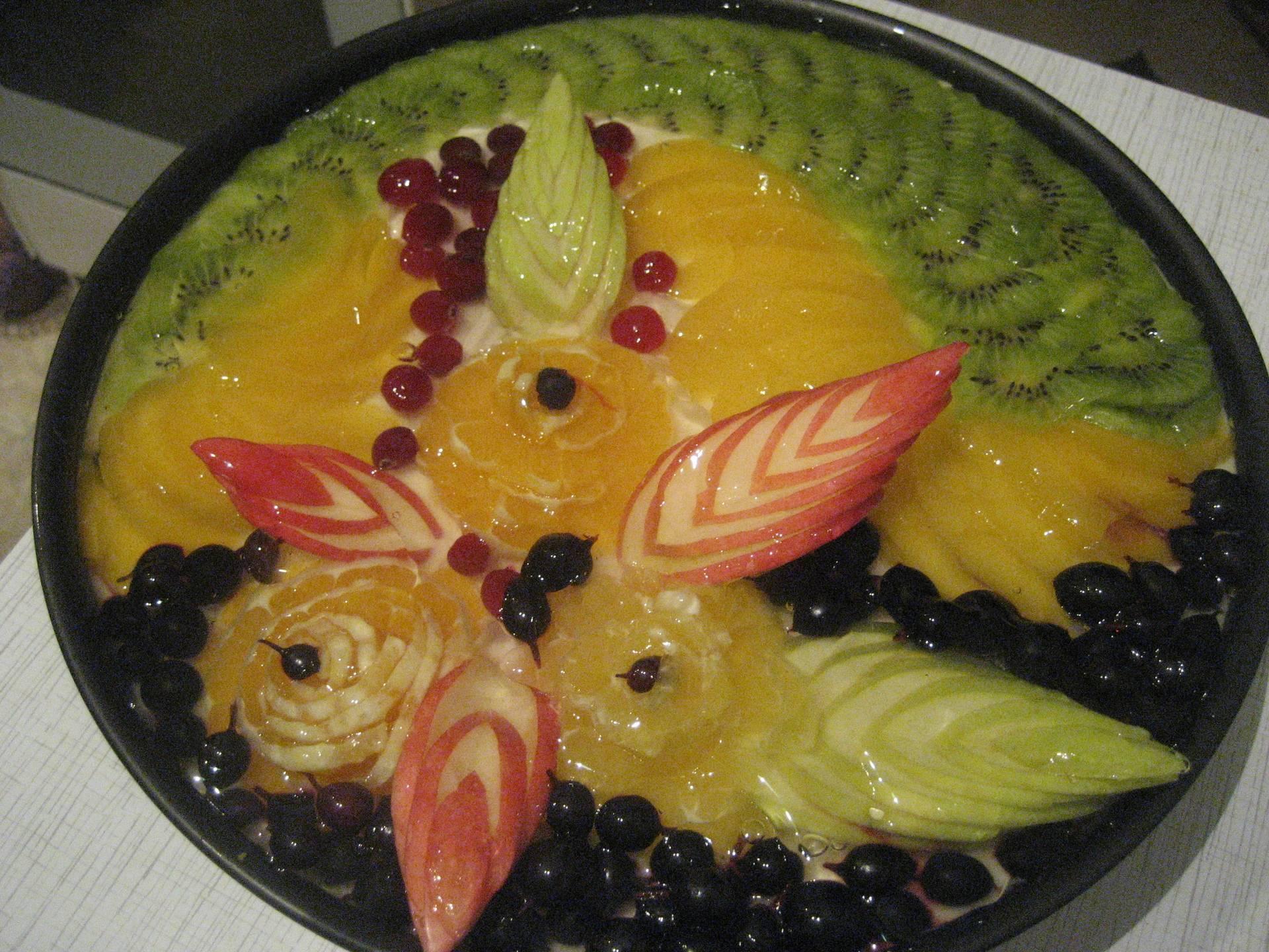 Как украсить торт фруктами своими руками: способы