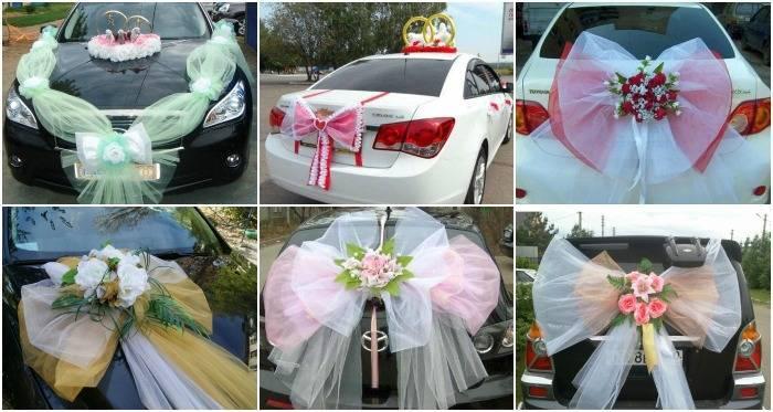 Украшение главной машины на свадьбу. как украсить авто жениха и невесты?