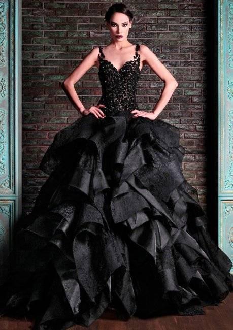 Черное свадебное платье — таинственный образ или плохая примета?