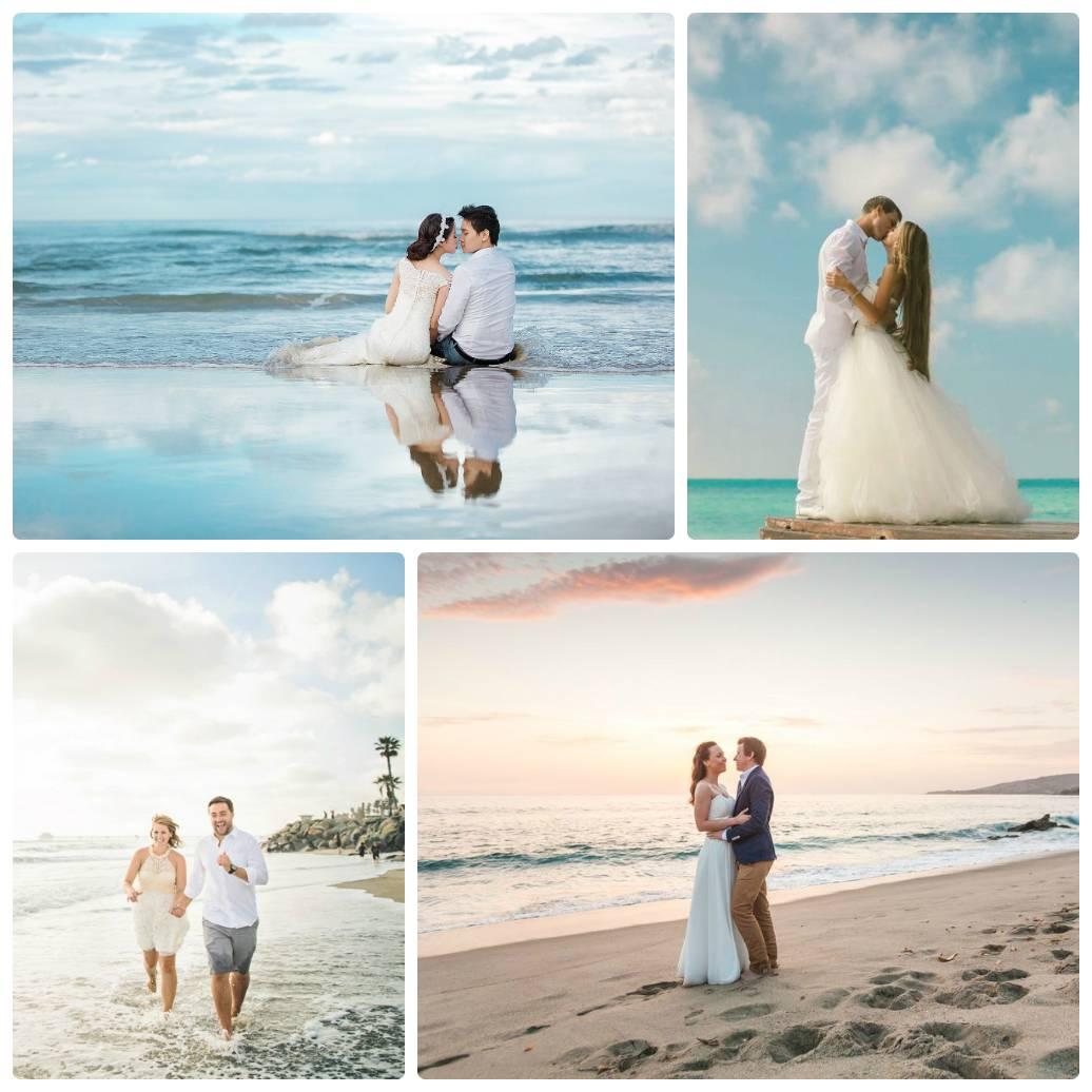 Свадебная фотосессия на пляже. идеи для фотосессии