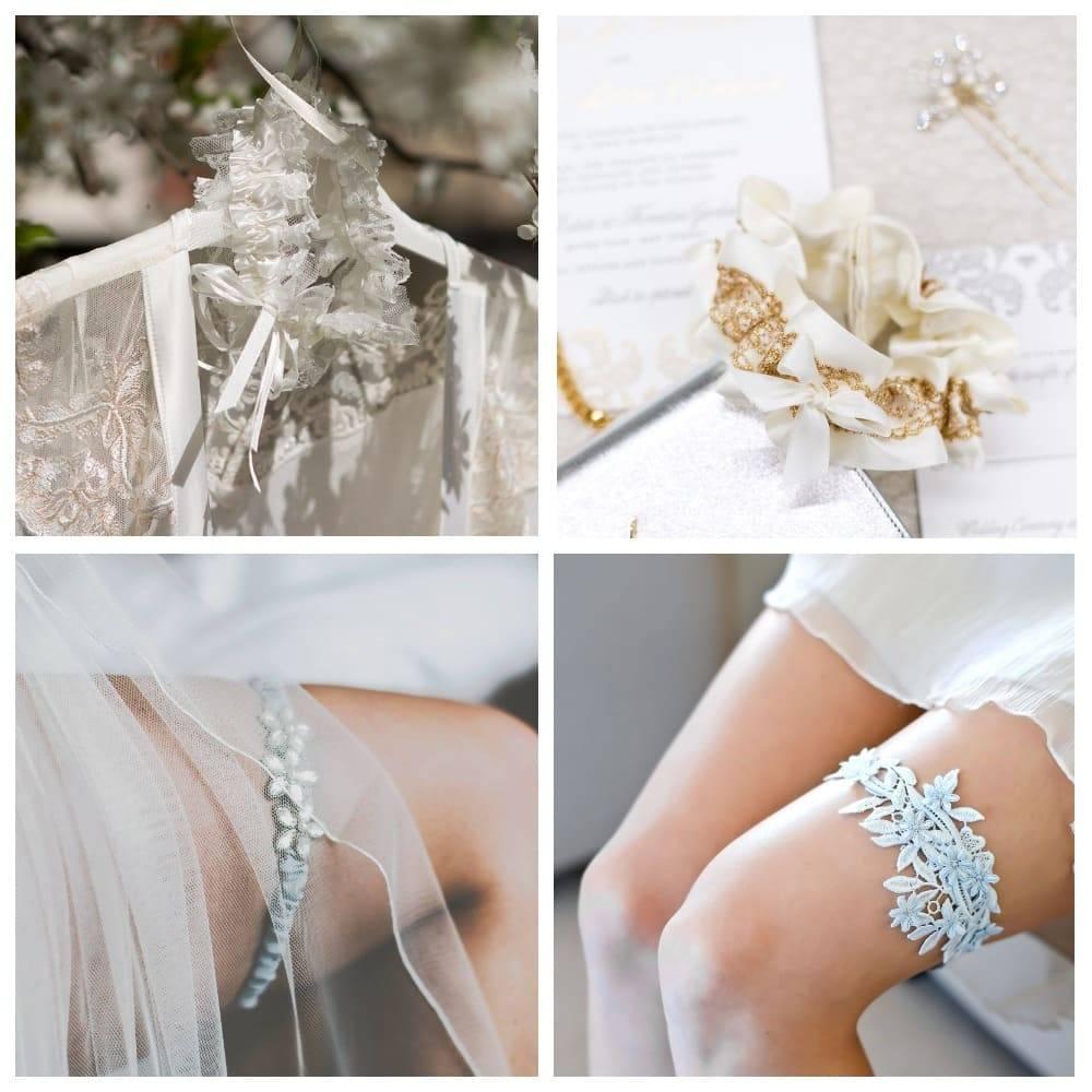 Свадебная подвязка невесты: фото и полезные советы