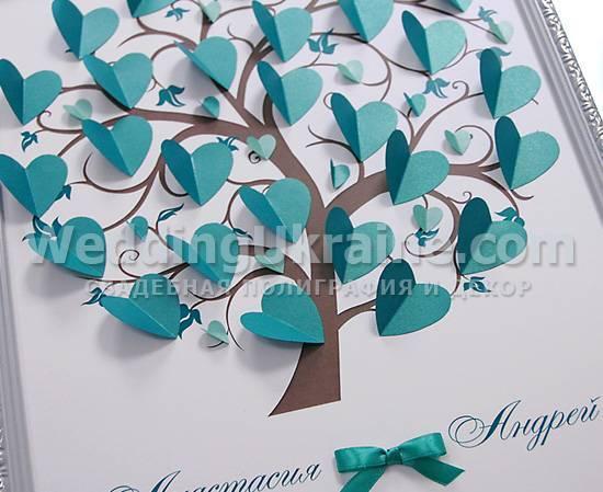 Дерево пожеланий своими руками на свадьбу