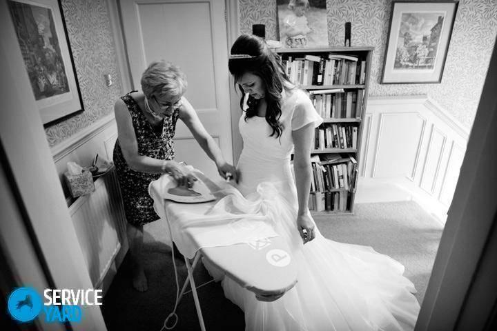 Как отпарить свадебное платье из фатина