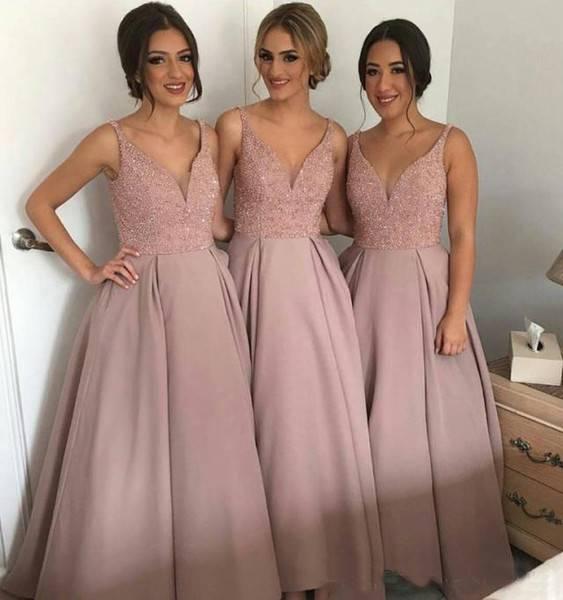 Модные цвета и модели платьев для подружек невесты, как выбрать наряды