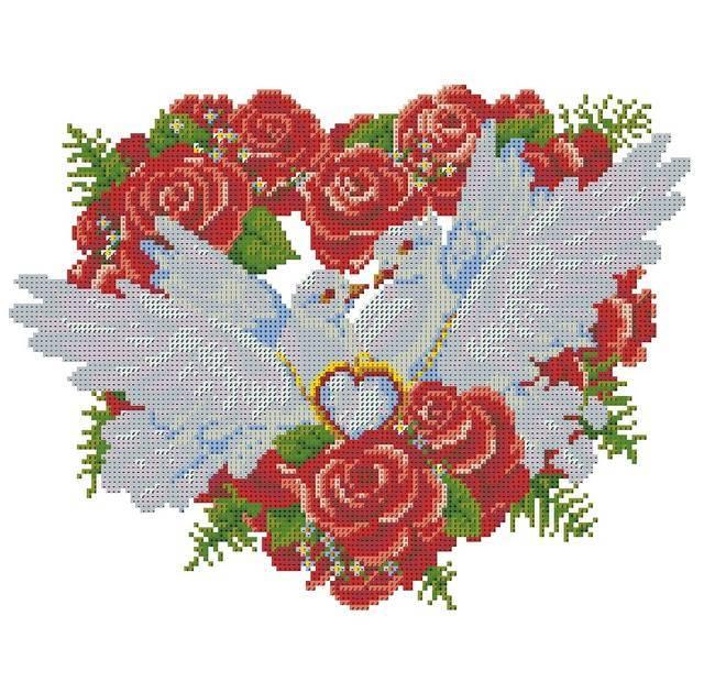 Оберег свадьба вышивка крестом свадебный рушник нитки ткань