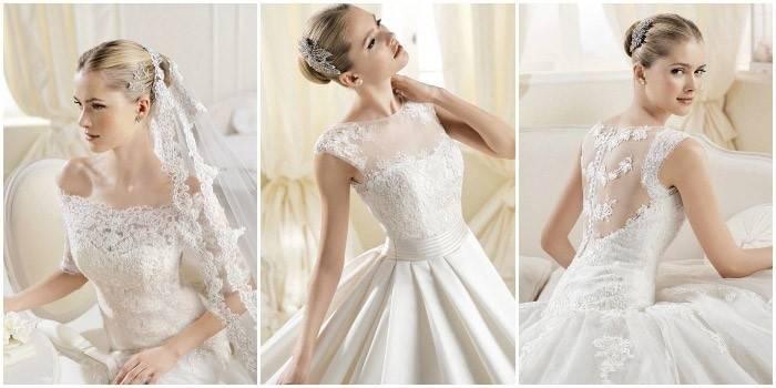 Кружевные свадебные платья: классический фасон для изумительных образов