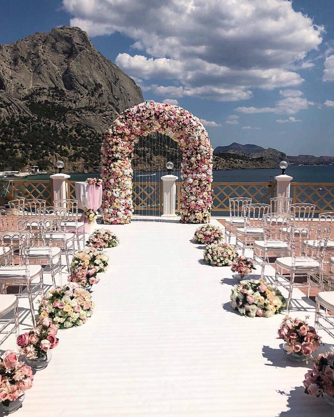 Свадебная церемония на пляже – фото