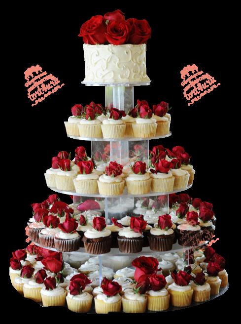 Изящный свадебный торт с капкейками: варианты оформления и подачи