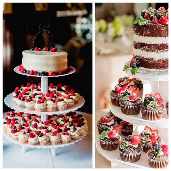 Торт на свадьбу с капкейками — как подать (фото)