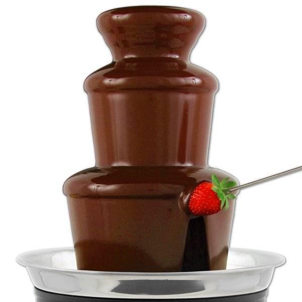 Что такое шоколадный фонтан, как он выглядит и работает