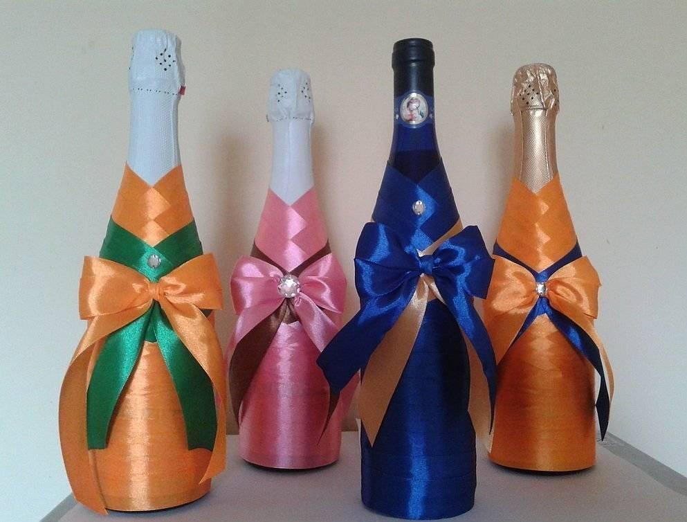 Как украсить шампанское на свадьбу своими руками?