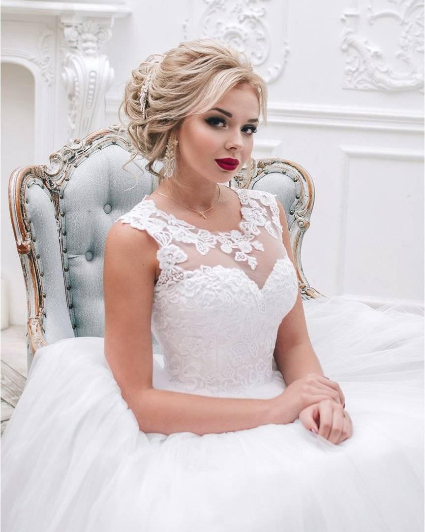 Свадебные прически на средние волосы с челкой (61 фото): идеи укладки на среднюю длину волос для невесты на свадьбу
