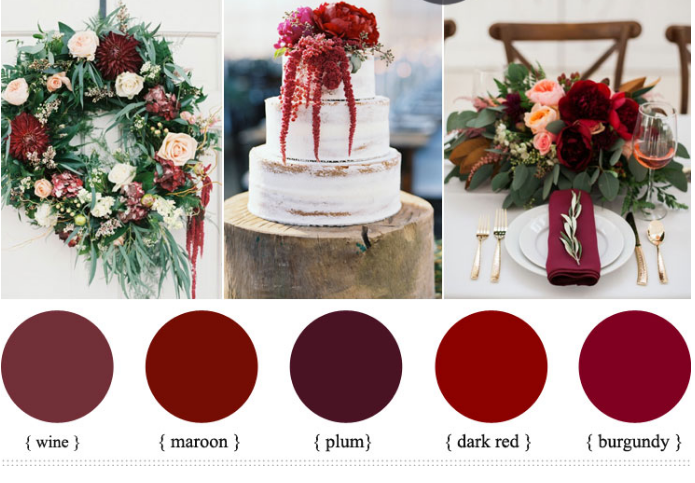 Винные ароматы опьяняют или особенности оформления бордовой свадьбы
