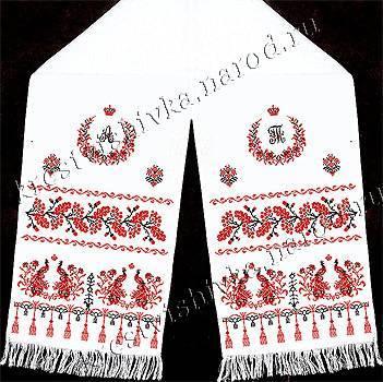Свадебные рушники: 10 символов на вышивках крестиком