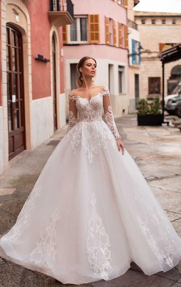 Самые красивые свадебные платья 2019-2020 — фото лучших свадебных нарядов сезона