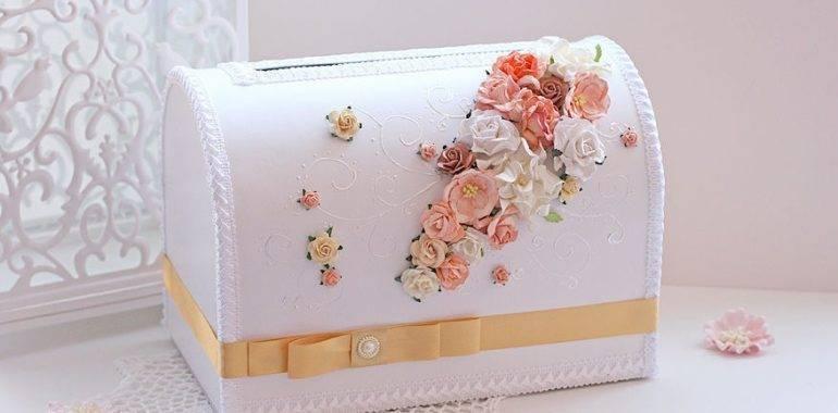 Делаем сундук для денег на свадьбу своими руками из коробки. фото, мастер-класс, схема, выкройки