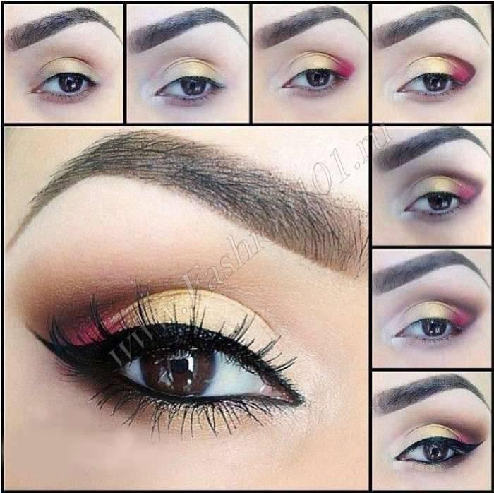 Свадебный макияж для невесты с зелеными глазами
