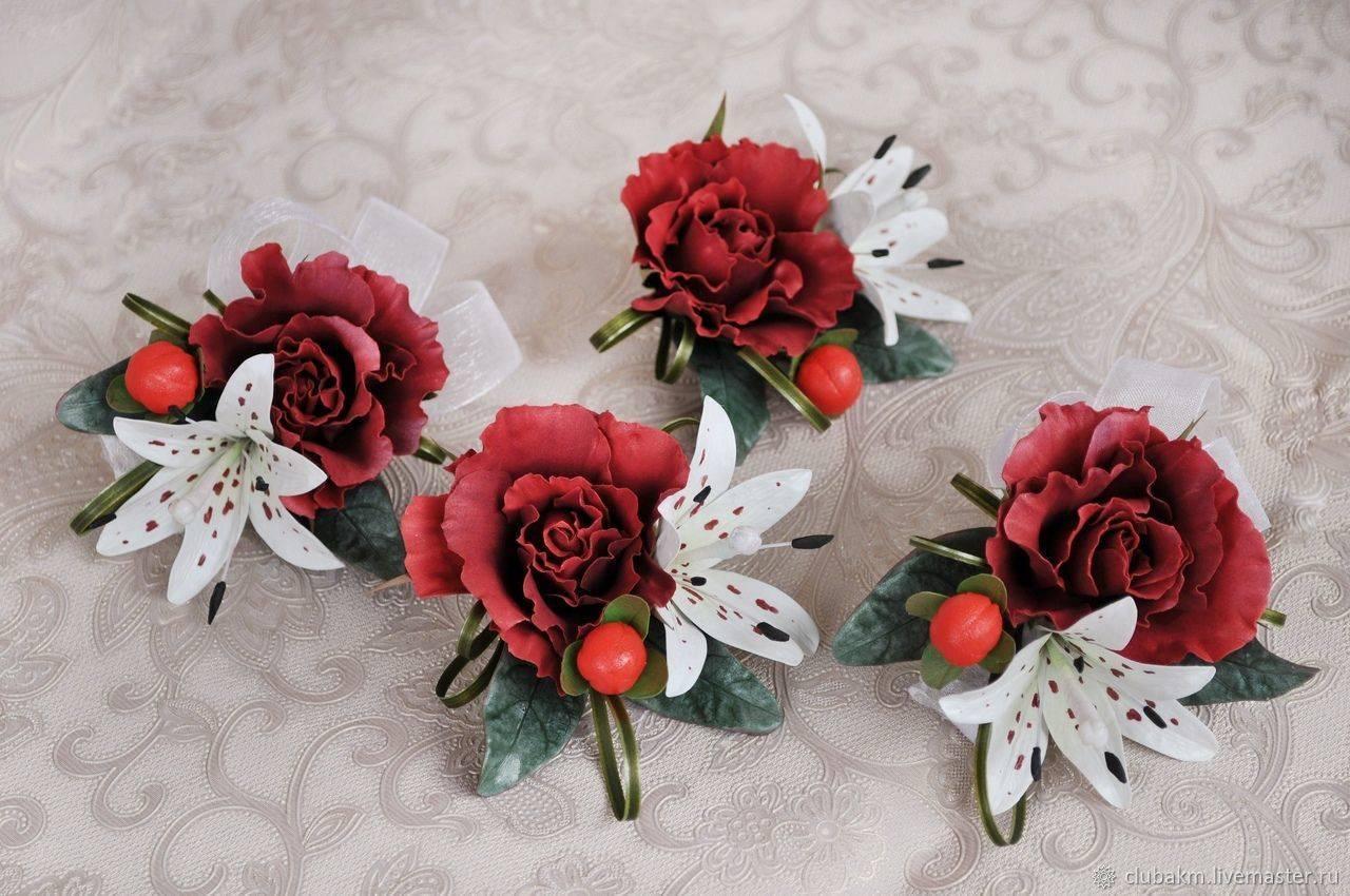 Для подружек невесты своими руками  свадебные бутоньерки, повязки, ленты, украшения