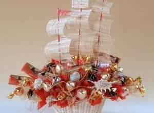 Корабль из конфет + мк | страна мастеров