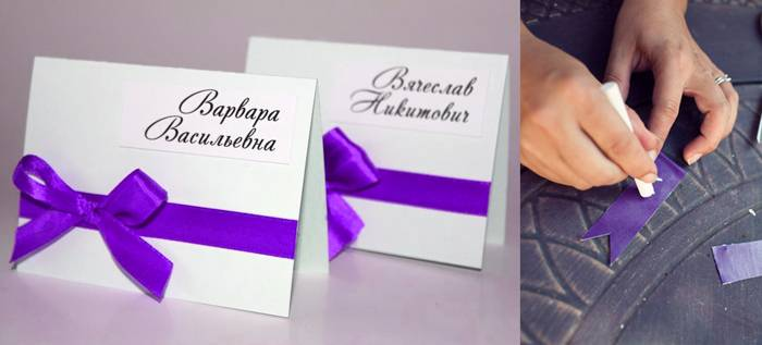 Как сделать и оформить карточки для рассадки гостей на свадьбе своими руками?